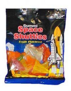 Fruit flavored Space Shuttle Gummi