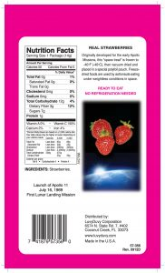 freeze dried strawberry package