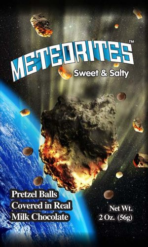 Luvy Duvy Meteorites pretzel ball with milk chocolate